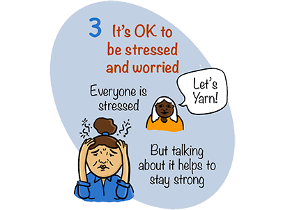 It's OK to be stressed and worried