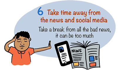 Take time away from the news and social media